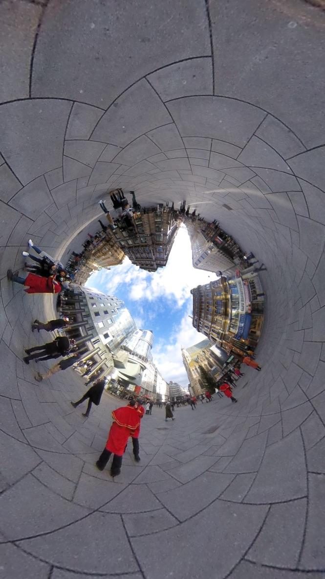 Place centrale à Vienne 360°