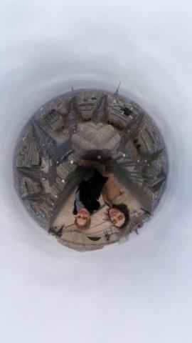 En haut de l'Arc De Triomphe 360°