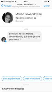 Conversation chatbot Marine Lewandowski