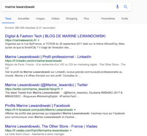 Google et le personal branding